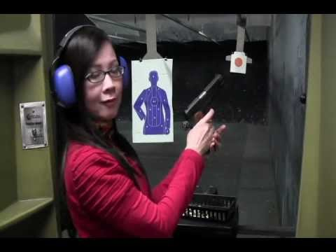 Colt 1911 45 ACP Combat Commander MK IV Series 80 - Vietnamese Asian Girl Shooting Dan Ba Ban Sung
