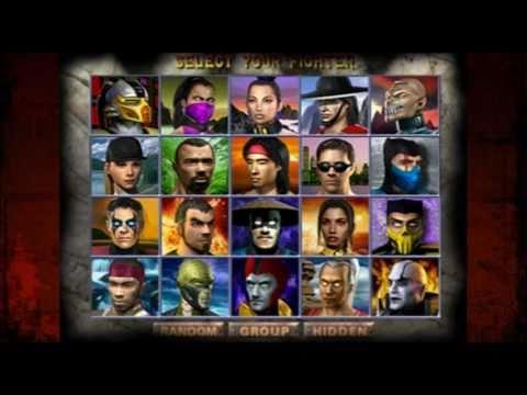Mortal Kombat Select Screen