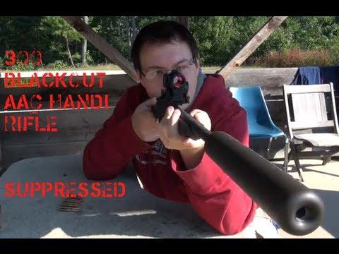 Suppressed Handi Rifle in 300 Blackout
