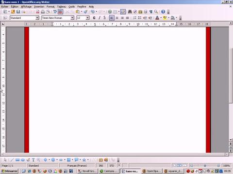 Comment insérer des bordures avec OpenOffice