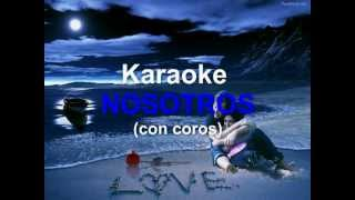 Karaoke instrumental - Nosotros (con coros) bolero (Pista para cantar)