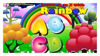 The Rainbow ABC Songs for Children | ABC SONG | Learning ABC Nursery Rhymes in 3D