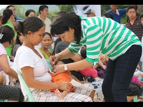 Mass immunisation programme for around 33000 children begins in Philippines Tacloban city
