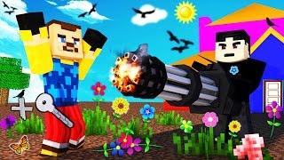 Minecraft - HELLO NEIGHBOR - BLOWING UP THE NEIGHBOR?!