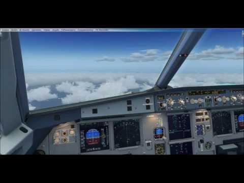 Airbus A320 Aerosoft X Vuelo de Libreville a Malabo...con muy buen tiempo ;)