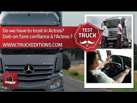 L'Actros entre les mains d'un conducteur routier : essai camion avec Jean-François MARIE