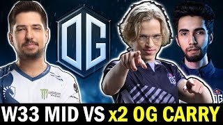 W33 mid vs TOPSON & SUMAIL — Epic CLOSE Game Dota2