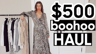 $500 Boohoo Fall Winter Holiday Haul + Try-On