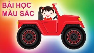 Dạy bé học màu sắc tiếng việt và tiếng anh  cùng xe oto vui nhộn  ❤️The Rio Channel❤️