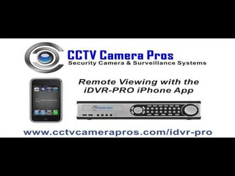 iDVR-PRO iPhone App for Remote Surveillance Camera Viewing