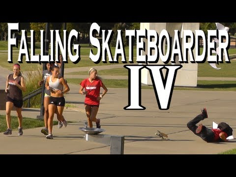 Public Pranks: The Falling Skateboarder 4!