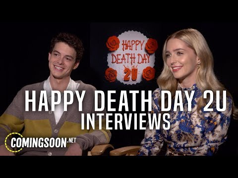Happy Death Day 2U Interviews! Jessica Rothe, Israel Broussard, Christopher Landon And Jason Blum