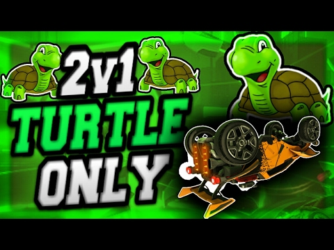 2v1 TURTLE ONLY CHALLENGE ON ROCKET LEAGUE!! THE HARDEST CHALLENGE!!