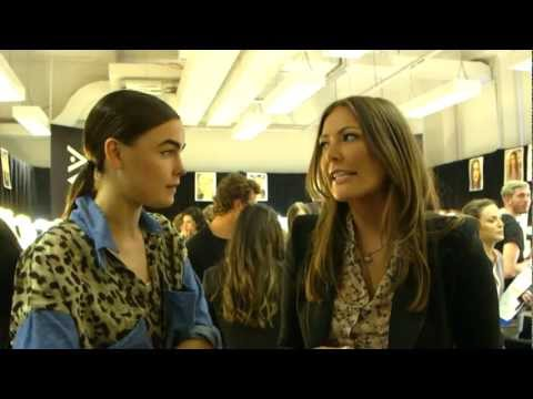 Backstage with Bambi Northwood-Blyth at the David Jones Spring Summer 2012-13 Collection Launch