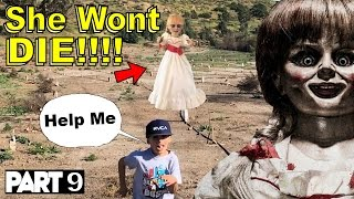 Evil Doll Annabelle mailed to us FREAKS US OUT and haunts us like a SCARY CLOWN - Part 9