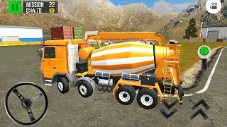 Cement Mixer   Driving Island Delivery Quest #7 - Android Gameplay FHD