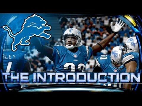 Madden 13 Franchise Detroit Lions Connected Careers Introduction ft Madden 25 Roster Updates