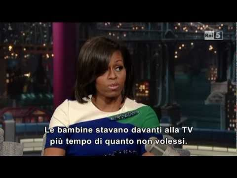 Michelle Obama al david letterman (part 2)