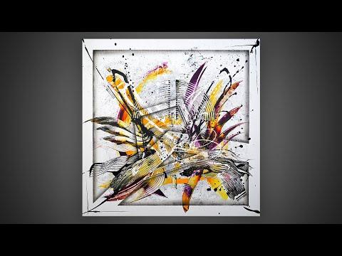 Peinture acrylique - tableau moderne démonstration   Lasione