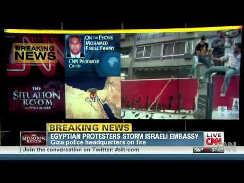 Israeli Embassy Ransacked In Cairo
