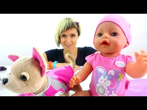Куклы для девочек - Как Мама - Собачка ChiChiLove и кукла Baby Born