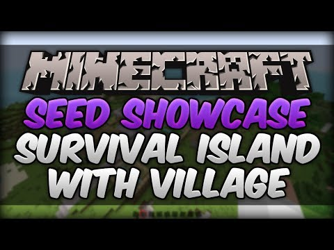 Minecraft 1.7.9 Seed Showcase - Survival Island With Village!