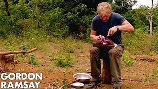 Gordon Ramsay Cooks Buffalo For A Cambodian Tribe | Gordon