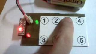 DIY Touchbuttons PCB with QT1081 (Capacitive Buttons 8 ch)