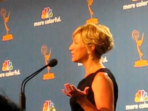 Edie Falco Backstage at 2010 Emmys