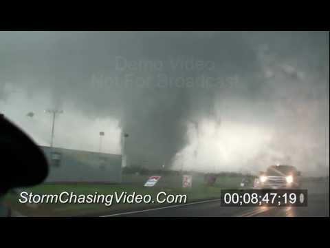 5/24/2011 Canton, OK Wedge Tornado B-Roll stock footage