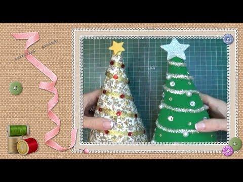 Tutorial mini árbol de navidad / Tutorial miniature christmas tree
