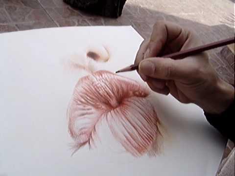 Dibujando labios