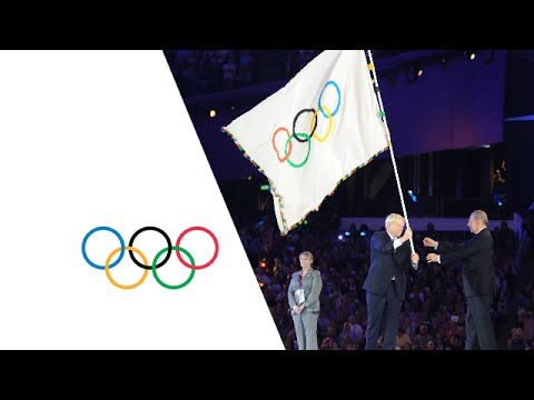 Olympic Games - Closing Ceremony -  London 2012 - Raising of the flags - Hand Over to Rio