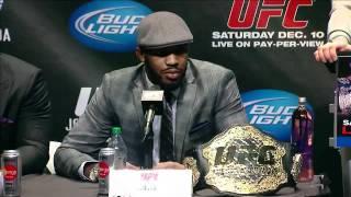 UFC 140 JONES vs MACHIDA Live Press Conference