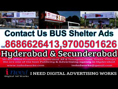 Advertising Service Outdoor On Bus Shelter in Hyderabad & Secunderabad