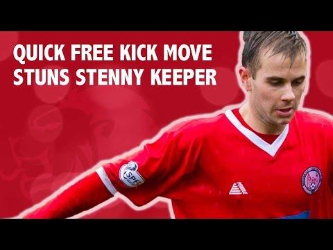Quick free kick move stuns Stenny keeper