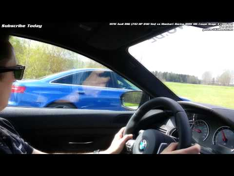 Manhart Racing BMW M6 Coupe stage 4 700 HP vs MTM Audi RS6 Sedan 743 HP