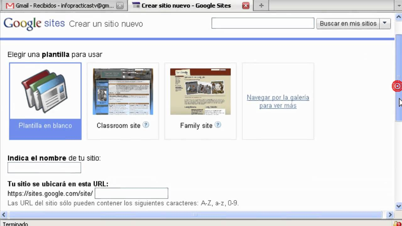 Curso google sites 2011 crear una pagina web gratis Crear website