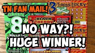 💰 HUGE WINNER on TN FAN MAIL! ✦ 3 Times Lucky ✦ Black Cherry Doubler! TENNESSEE LOTTERY
