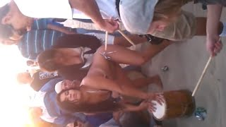 Your titties are out at the drum circle Venice Beach