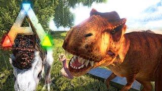 ARK Survival Evolved - NEW SORNA REX, GIANT VIPER KILLS TITANO WITH POISON & DINO HAIR ( Gameplay )