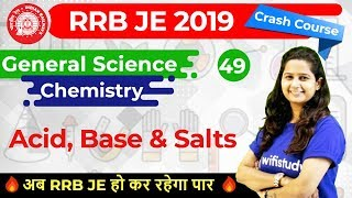 9:30 AM - RRB JE 2019 | GS by Shipra Ma'am | Acid, Base & Salts