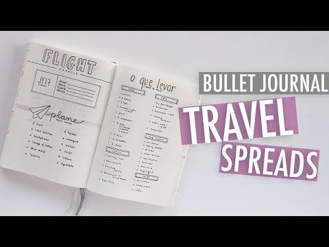 Bullet Journal TRAVEL SPREADS | How To Plan Your Trip + Packing List