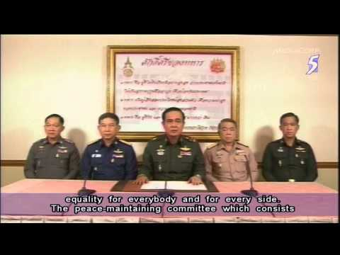 Thailand coup leaders suspend constitution, army chief heads junta - 22May2014