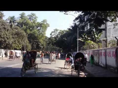 Dhaka city, Bangladesh unedited walking tour of a city street -Walk the World!