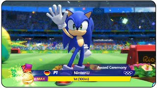 Mario and Sonic at the Rio 2016 Olympic Games (Wii U) - 100m Level : MAX