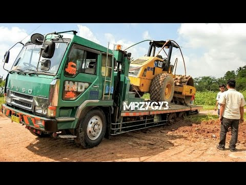 Fuso Self Loader Truck Stuck Recovery