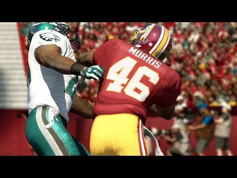 Please Fix This Stiff Arm Glitch @EAMaddenNFL - Alfred Morris God Mod (Eagles vs Redskins)