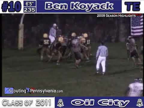 Football Highlights of Ben Koyack's junior year.