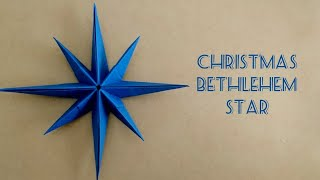 Origami Christmas Star/Paper Bethlehem Star/ 8-Point Star 折纸圣诞星 (1)